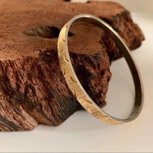 Trifari vintage gold tone bangle bracelet